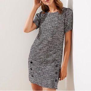 Ann Taylor LOFT   Bouclé Tweed Shift Dress